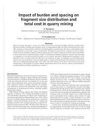 Mohs Hardness Scale Worksheet Impact Of Burden And Spacing On Fragment Size Distribution And