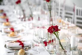 dinner table incredible stylish formal dinner table setting with red roses