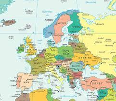 Map Of Asia Countries Political Map Of Europe Ezilon Maps European Federation