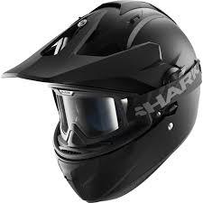 motocross helmet shark explore r blank dual sport matt black motorcycle motocross