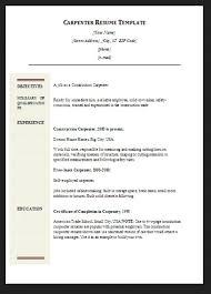 Carpenter Resume Sample by Carpenter Resume Examples Samples Free Edit With Word Carpenter