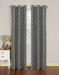 Linen Curtains With Grommets Pair Of Allie Faux Linen With Flocking Window Panels W Grommets