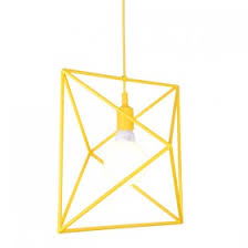 Yellow Pendant Light Copper Cage Ceiling Lights Industrial Pendant Lighting