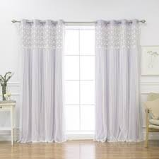 White And Purple Curtains Floral Purple Curtains U0026 Drapes You U0027ll Love Wayfair