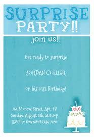 surprise party free printable birthday invitation template