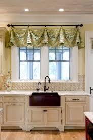Kitchen Bay Window Curtain Ideas by Kitchen Sink Window Treatment Ideas Kitchen Window Treatment