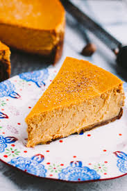 pumpkin cheesecake with gingersnap crust plays well with butter