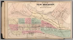 Media Pa Map Map Of New Brighton Beaver Co Pa David Rumsey Historical Map