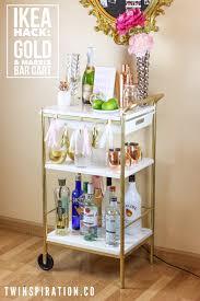Ikea Shelf Hacks Ikea Hack Gold U0026 Marble Bar Cart Twinspiration
