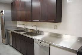 stainless steel countertop with sink stainless steel countertops installed in the kitchen with double