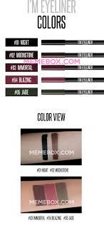 Eyeliner Meme - memebox i m eyeliner 04 blazing eyes makeup