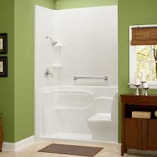 Bathtub For Seniors Walk In Shower With Seat And Grab Bar Small Lip For Entry Bathrooms