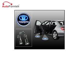 logo toyota fortuner car door welcome light led projection ghost shadow light laser