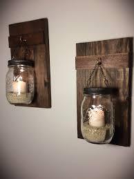 set of 2 hanging mason jars rustic home decor home u0026 living
