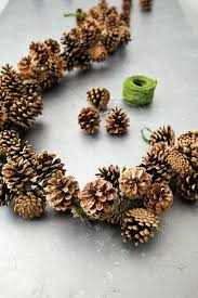 pine cone decoration ideas 50 best diy christmas garland decorating ideas for 2017