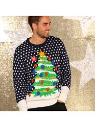 christmas tree jumper with lights christmas tree knitted jumper with lights ugly christmas jumper