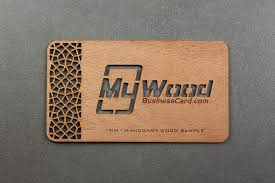mahogany wood business cards my wood business card