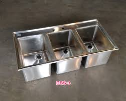3 bay stainless steel sink stainless steel drop in sinks commercial drop in sink restaurant