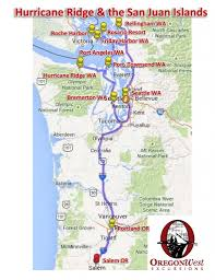 Bellingham Washington Map by Hurricane Ridge U0026 The San Juan Islands U2013 Oregonwest Excursions