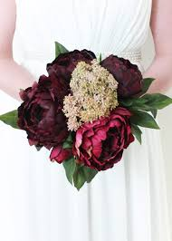 peony bouquet wine burgundy peony bouquet silk wedding bouquets afloral