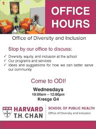 open office hours office of diversity and inclusion harvard
