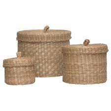 Wicker Laundry Basket With Lid Ikea Ljusnan Box With Lid Set Of 3 Seagrass Ikea