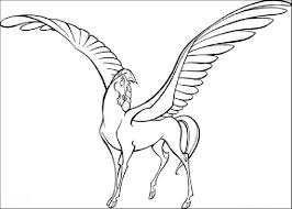 cartoon coloring pages pegasus of hercules cartoon coloring