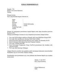 contoh surat permohonan yang baik dan benar baca disini