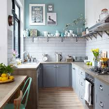 blue kitchen cabinet paint uk budget kitchen makeover with grey cabinets metro tiles and