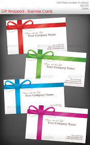 business gift cards gift wrapped business cards by ravenwill graphicriver