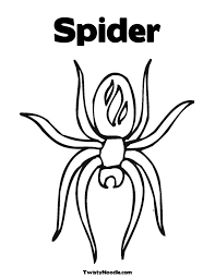 spider coloring kids coloring