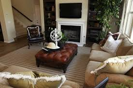 Living Room Design Television Living Room Contemporary White And Dark Brown Living Room Design
