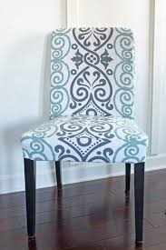 DIY Dining Chair Slipcovers From A Tablecloth - Dining room chair slipcover patterns