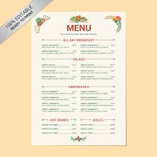 cafe menu template word free templates resume examples 8ma6ybgy2q