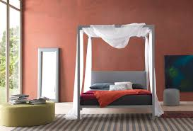 canopy bed double contemporary leather ceylon bolzan letti canopy bed double contemporary leather ceylon bolzan letti