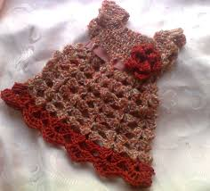 baby thanksgiving clothes fall baby dress crochet autumn baby in brown and
