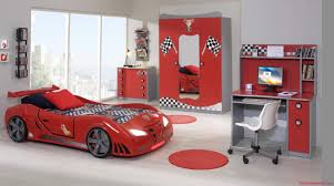 Car Bedroom Ideas Bedroom Desk With Shelves And Car Bed Also Closet With Chest Of