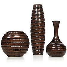 Wicker Vases Amazon Com Hosley U0027s Set Of 3 Crackle Ivory Ceramic Vases In Gift