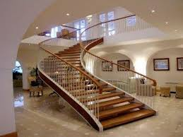 elegant hardwood stairs circular staircase with modern and