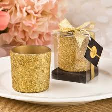 candle favors gold glitter candle favors free custom tags