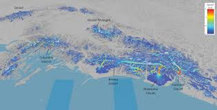 Wrangell Alaska Map by Satellite Provides Global View Of The Speed Of Ice Geophysical