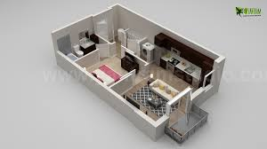 rectangle house floor plans house 3d floor plan design with different views on behance