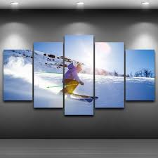 Wall Art Paintings For Living Room Online Get Cheap Ski Wall Art Aliexpress Com Alibaba Group