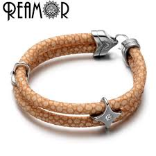 make bracelet with leather cord images Reamor 2 colors high quality 6mm pu stingray leather rope string jpg