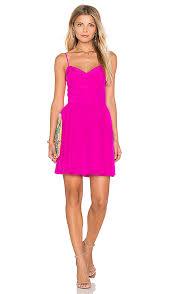 hot pink dress amanda uprichard mai mini dress in hot pink light revolve