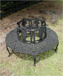 Metal Lawn Chairs Old Fashioned by Victorian Tree Surround Vintage Replica Garden Furniture Old