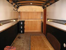 V Nose Enclosed Trailer Cabinets by Enclosed Trailers Enclosed Trailer Set Up Toyhaulin