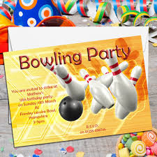 14th birthday party invitations 10 personalised tenpin bowling birthday party invitations n1