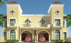Duplex Building by Beautiful Duplex House 3d Model With Material And Render Settings