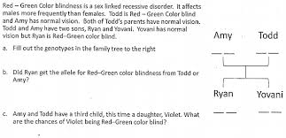 Time Blindness Red Green Color Blindness Is A Linked Recess Chegg Com
